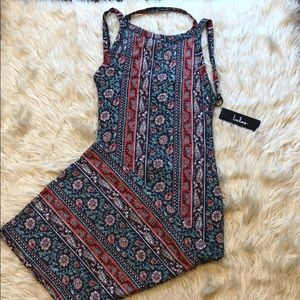 Lulu's Dresses - Lulu's NWT floral fitted midi dress with open back